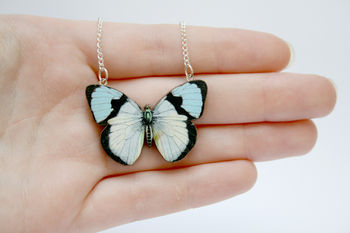 Alicia Wooden Butterfly Necklace