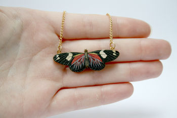 Elsie Wooden Butterfly Necklace