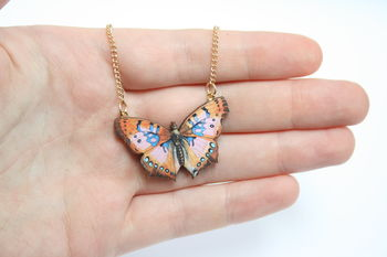 Maggie Wooden Butterfly Necklace