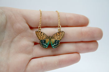 Emma Wooden Butterfly Necklace