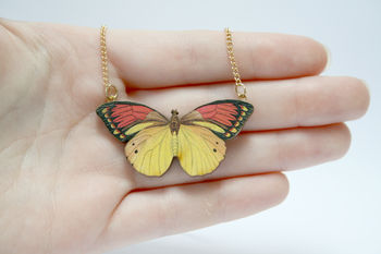 Florence Wooden Butterfly Necklace