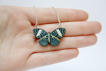 Rosalie Wooden Butterfly Necklace