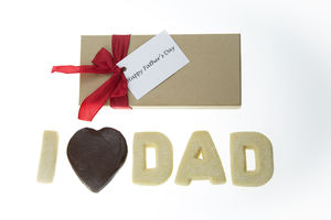 Fathers Day 'I Love Dad' Shortbread Biscuits - chocolates & confectionery