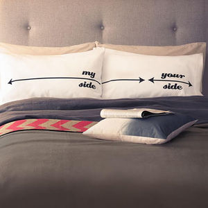 'My Side Your Side' Pillowcases - gifts for him