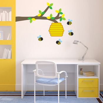 Honey Bees And Branch Wall Sticker