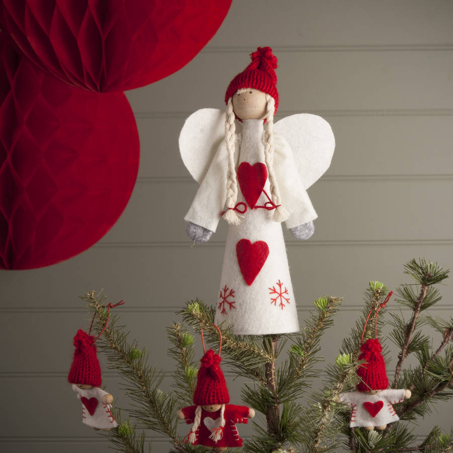Nordic angel tree topper by the christmas home for Angel decoration