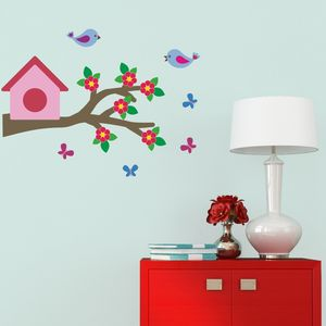 Love Birds On Branch Wall Sticker