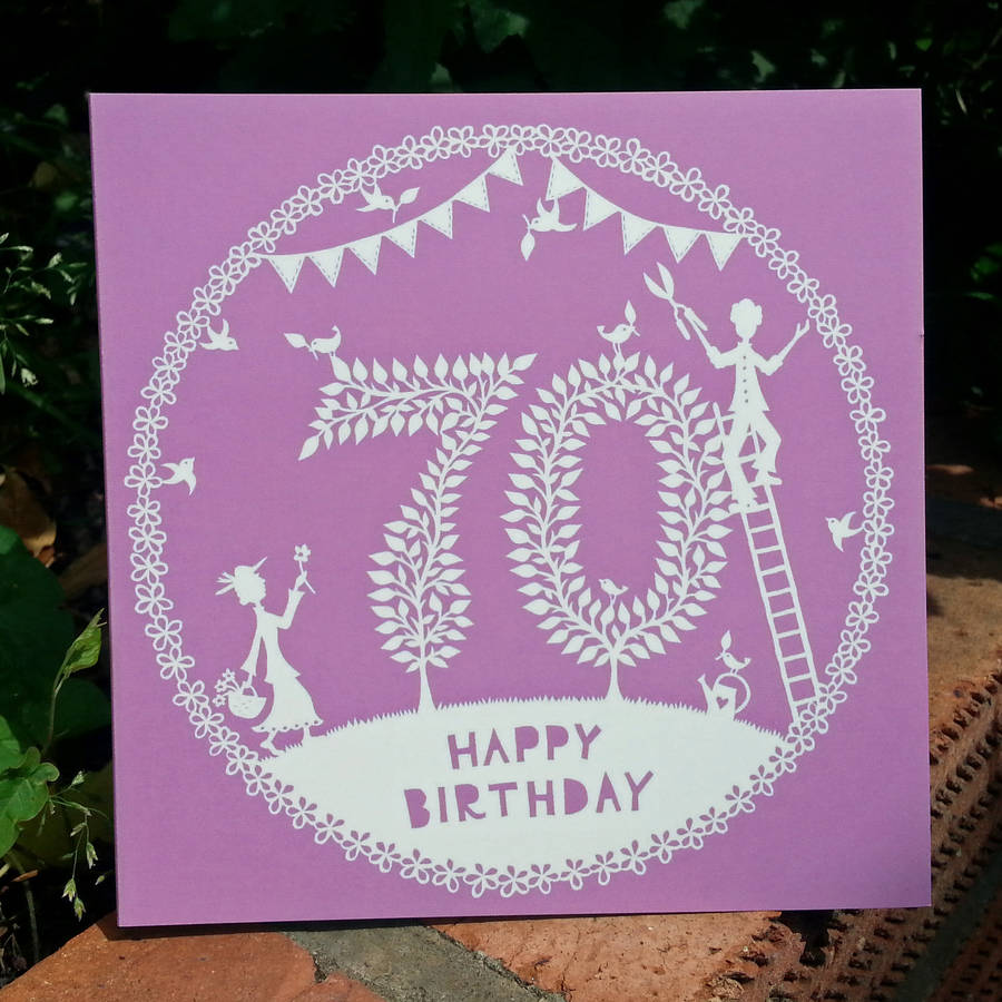 th birthday card by folk art papercuts by suzy taylor, Birthday card