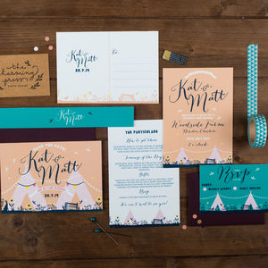 Teepee Wedding Invitation - invitations