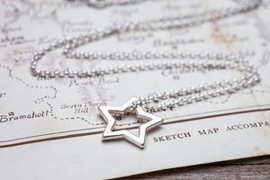 Girls Silver Star Necklace