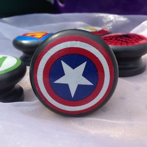 Superhero Logo Door Drawer Cupboard Knob