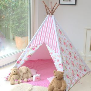 Pink Floral Wigwam - imaginative play