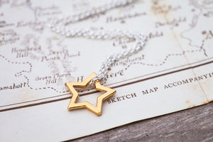 Girls Star Necklace - for children