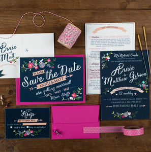 Floral Wedding Invitation - invitations