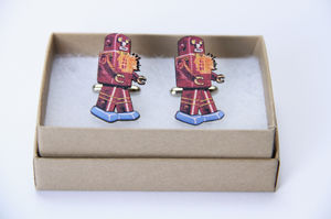 Howard Retro Robot Cufflinks - cufflinks