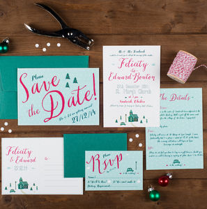 Winter Wedding Invitation - wedding stationery
