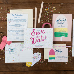 Ice Lolly Wedding Invitation