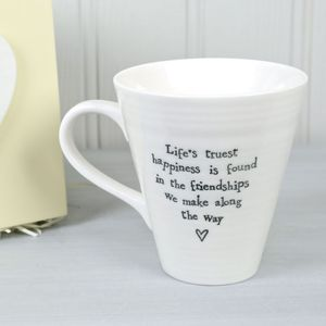 Life's Truest Happiness Friendship Boxed Mug - mugs