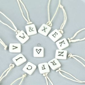 Porcelain Square Letters - home accessories