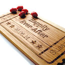 Cinema Ticket Stub Personalised Oak Sharing Platter