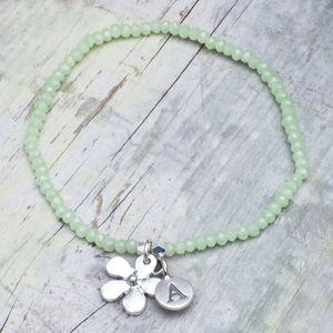 Cece Personalised Flower Bracelet - jewellery