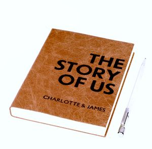 'The Story Of Us' Personalised Leather Journal - for your other half
