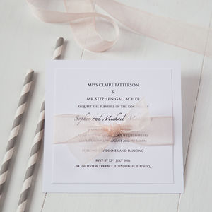 Organza Wedding Invitation - reply & rsvp cards