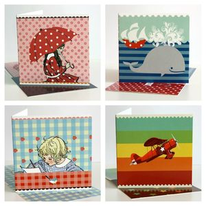 Pack Of Five Mixed Greeting Cards