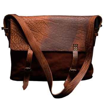 Dan's Brown Leather 17' Laptop Bag