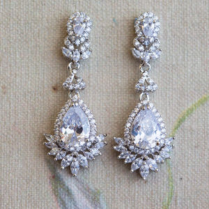 Alicia Crystal Earrings - earrings