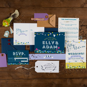 Summer Fete Wedding Invitation - invitations