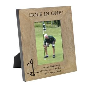 'Hole In One' Personalised Frame - picture frames