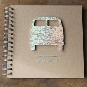 Personalised Vintage Map Camper Van Travel Journal