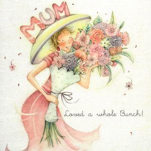 Mum Loved A Whole Bunch Birthday Card - birthday cards