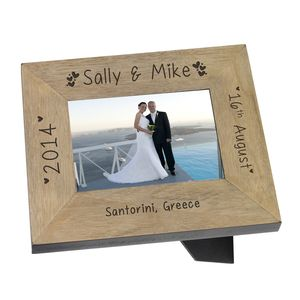 Bride And Groom Wedding Message Photo Frame