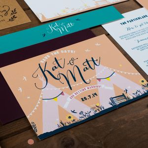 Teepee Save The Date Card