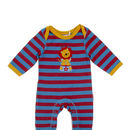 Red And Blue Striped Lion Romper