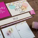 Balloons And Bunting Save The Date Card