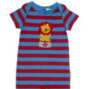 Red And Blue Striped Lion Summer Romper