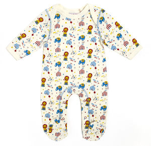 Lucy And Sam Circus Print Sleepsuit