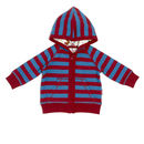 Lucy And Sam Red And Blue Striped Hoody