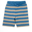 Lucy And Sam Grey And Blue Striped Jersey Shorts
