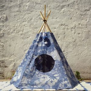 Tie Dye Cat And Dog Tipi - cats