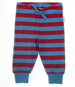 Lucy And Sam Red And Blue Striped Joggers