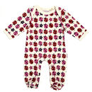 Lucy And Sam Ladybird Print Sleepsuit