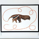 Anteater And His Ants Screen Print