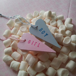 Boy / Girl Heart Personalised / Non Personalised Tag