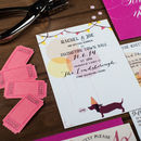 Balloons And Bunting Wedding Invitation