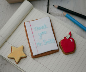 Mini Thank You Teacher Gift Box - biscuits and cookies