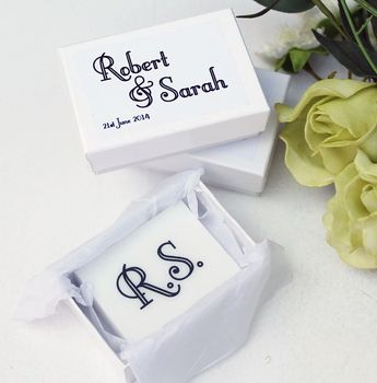 Personalised Printed Soap Wedding Favours